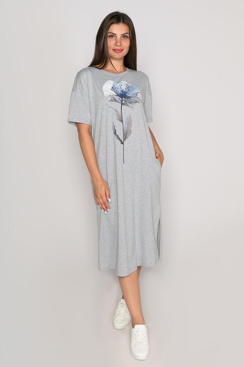 "Платье ""Naturel"", серый меланж"